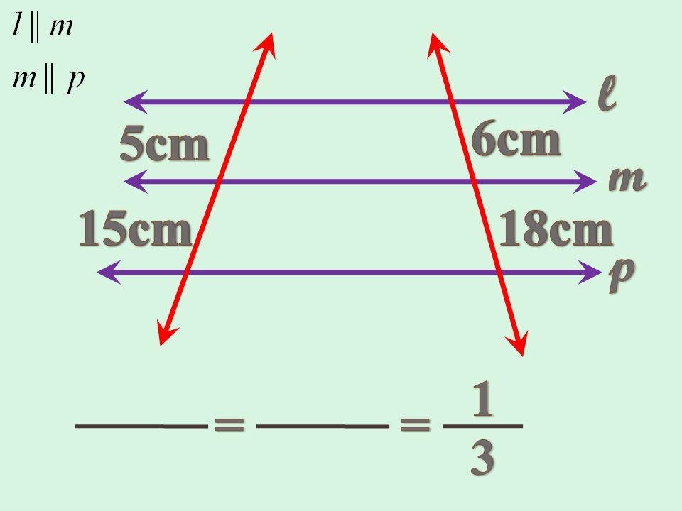 Ejemplo 1: Comprobar el teorema de Thales, en la siguiente figura.