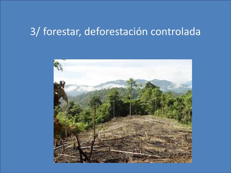 3/ forestar, deforestación controlada