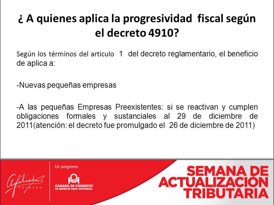 Según los términos del articulo 1 del decreto reglamentario, el beneficio de aplica a: -Nuevas pequeñas empresas -A las pequeñas Empresas Preexistente
