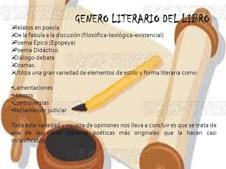 Relatos en poesía De la fabula a la discusión (filosófica-teológica-existencial) Poema Épico (Epopeya) Poema Didáctico Diálogo-debate Dramas. Utiliza