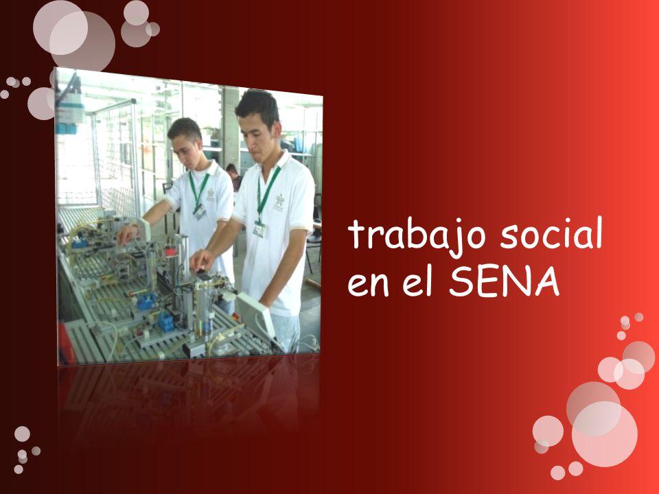 trabajo social en el SENA