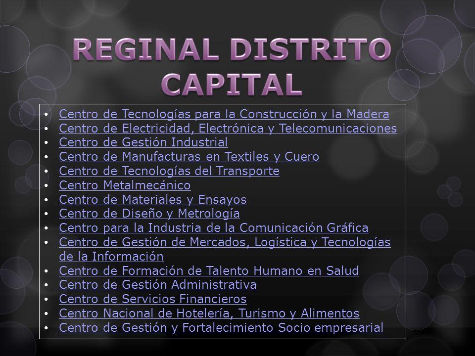 Centro de Tecnologías para la Construcción y la Madera Centro de Electricidad, Electrónica y Telecomunicaciones Centro de Gestión Industrial Centro de