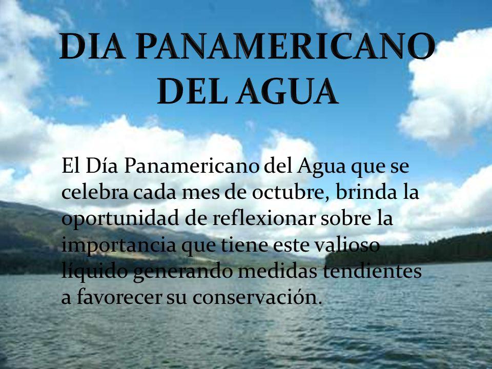 El Día Panamericano del Agua que se celebra cada mes de octubre, brinda la oportunidad de reflexionar sobre la importancia que tiene este valioso líqu