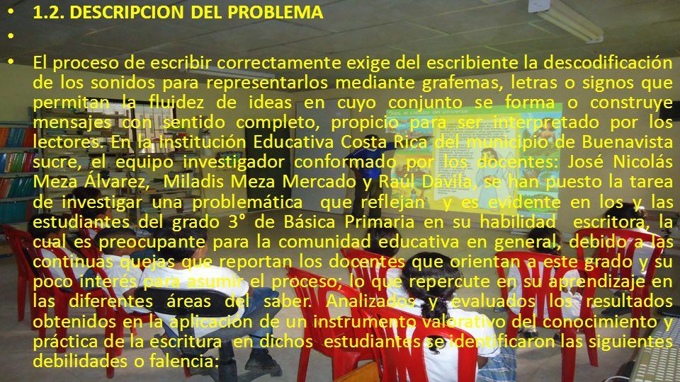 PROPUESTA PEDAGOGICA APLICADA http:///miblotkdeescrituraencostarica.bligoo.com.co/ 9.