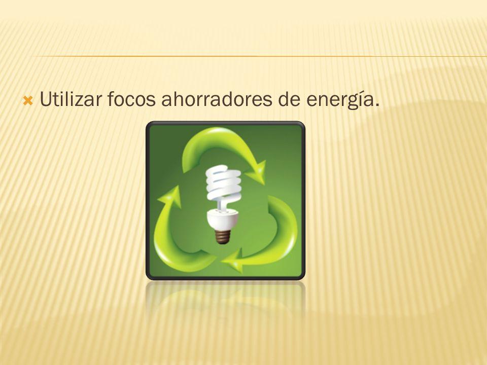Utilizar focos ahorradores de energía.
