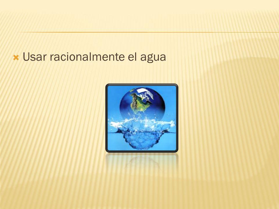 Usar racionalmente el agua