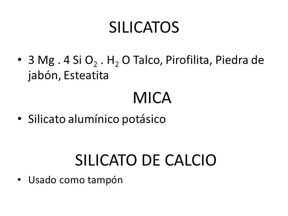 SILICATOS 3 Mg.4 Si O 2.