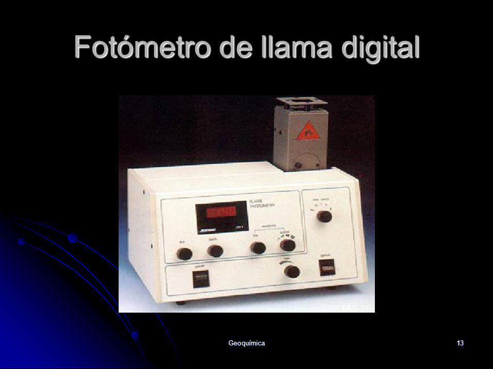 Geoquímica13 Fotómetro de llama digital