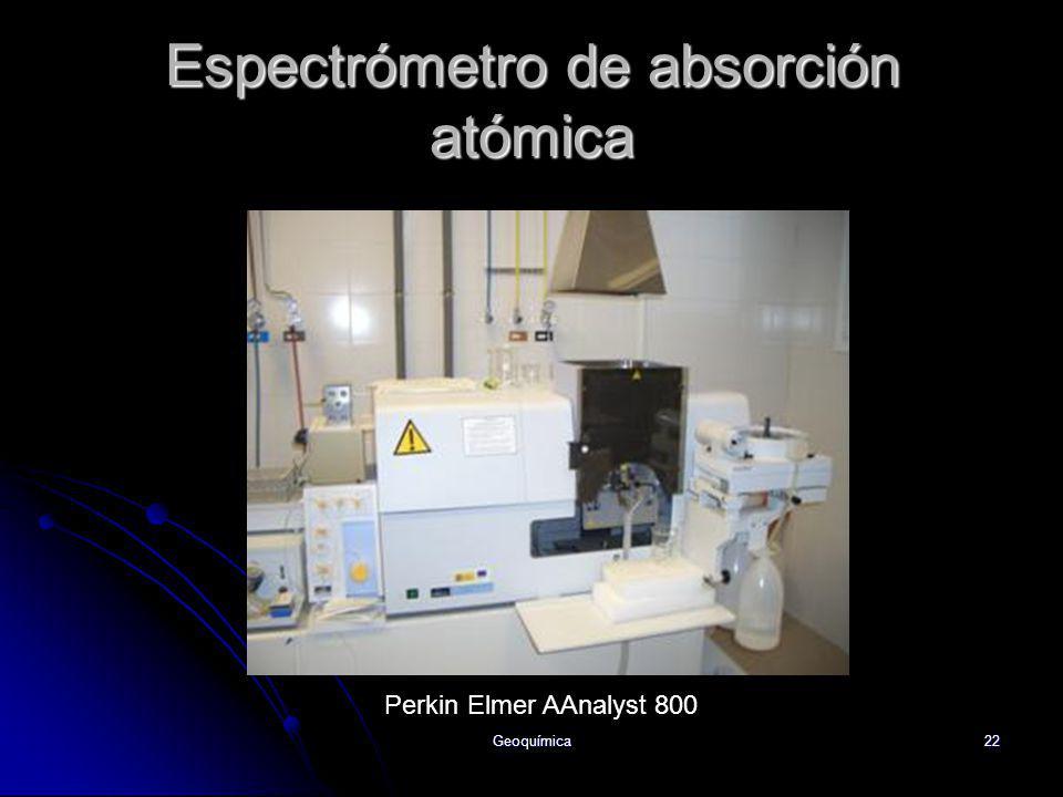 Geoquímica22 Espectrómetro de absorción atómica Perkin Elmer AAnalyst 800