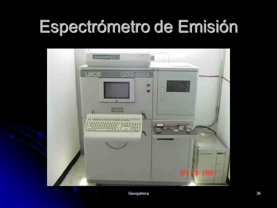 Geoquímica36 Espectrómetro de Emisión