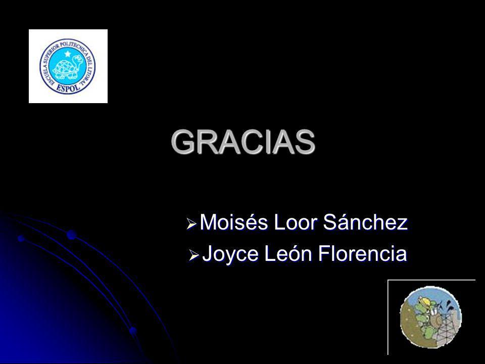 GRACIAS Moisés Loor Sánchez Moisés Loor Sánchez Joyce León Florencia Joyce León Florencia