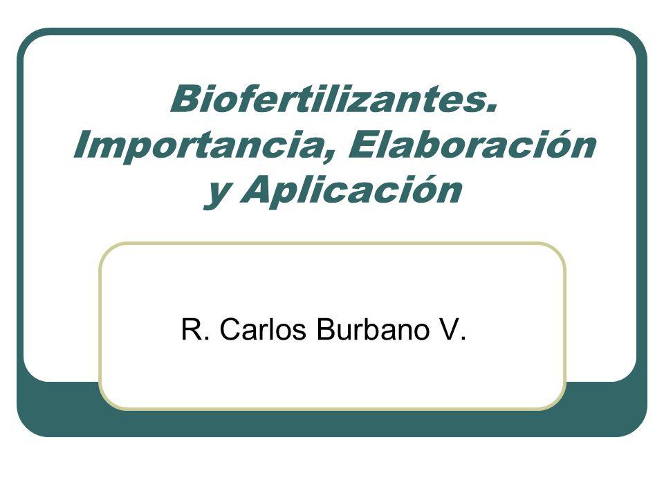 Biofertilizantes. Importancia, Elaboración y Aplicación R. Carlos Burbano V.