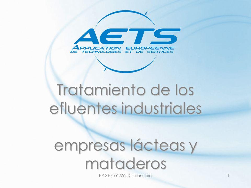 FASEP n°695 Colombia1 Tratamiento de los efluentes industriales empresas lácteas y mataderos