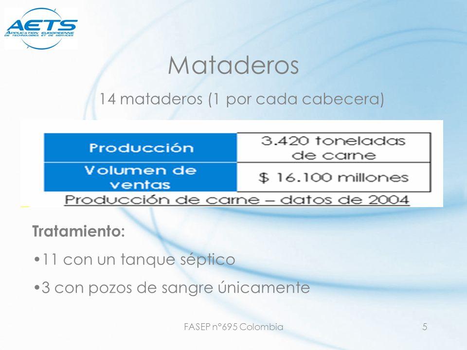 FASEP n°695 Colombia6 Caracterización de los efluentes