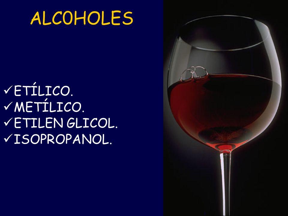ALCOHOL METÍLICO Etanol oral al 29%: Dosis de carga de 3 cc./kg.