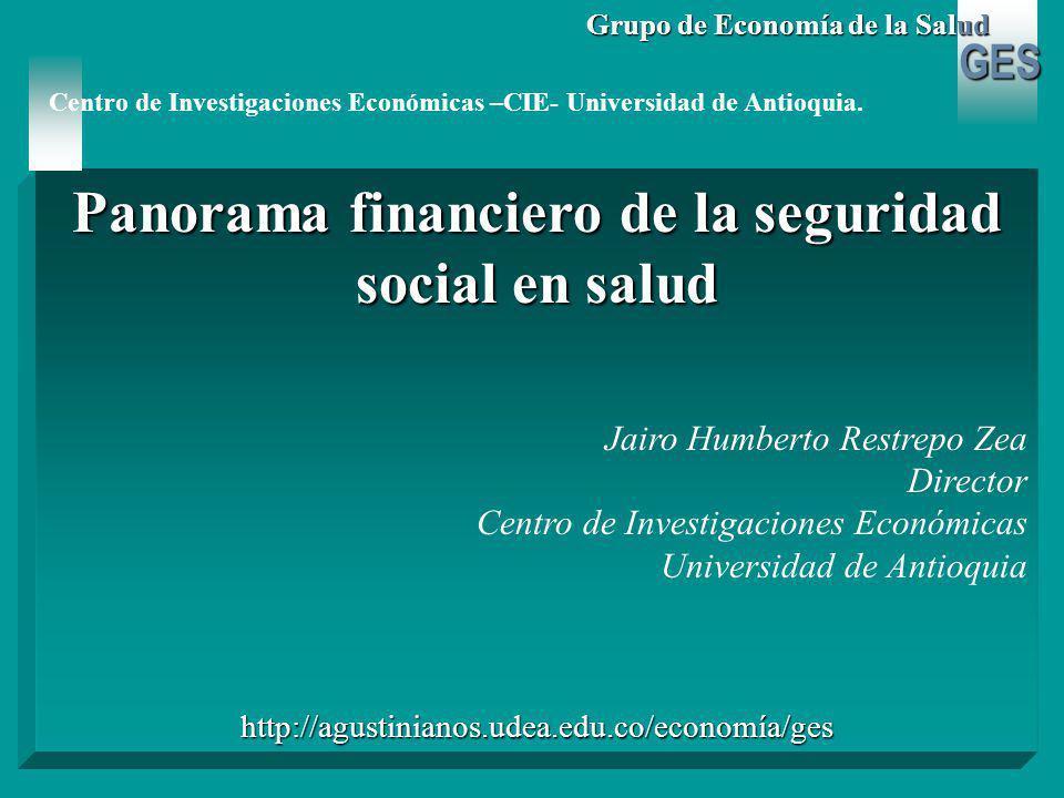 GES Grupo de Economía de la Salud Régimen subsidiado 2.