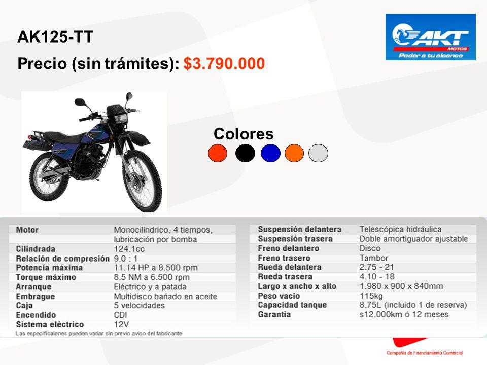 AK200-SM Precio (sin trámites): $5.490.000 Colores