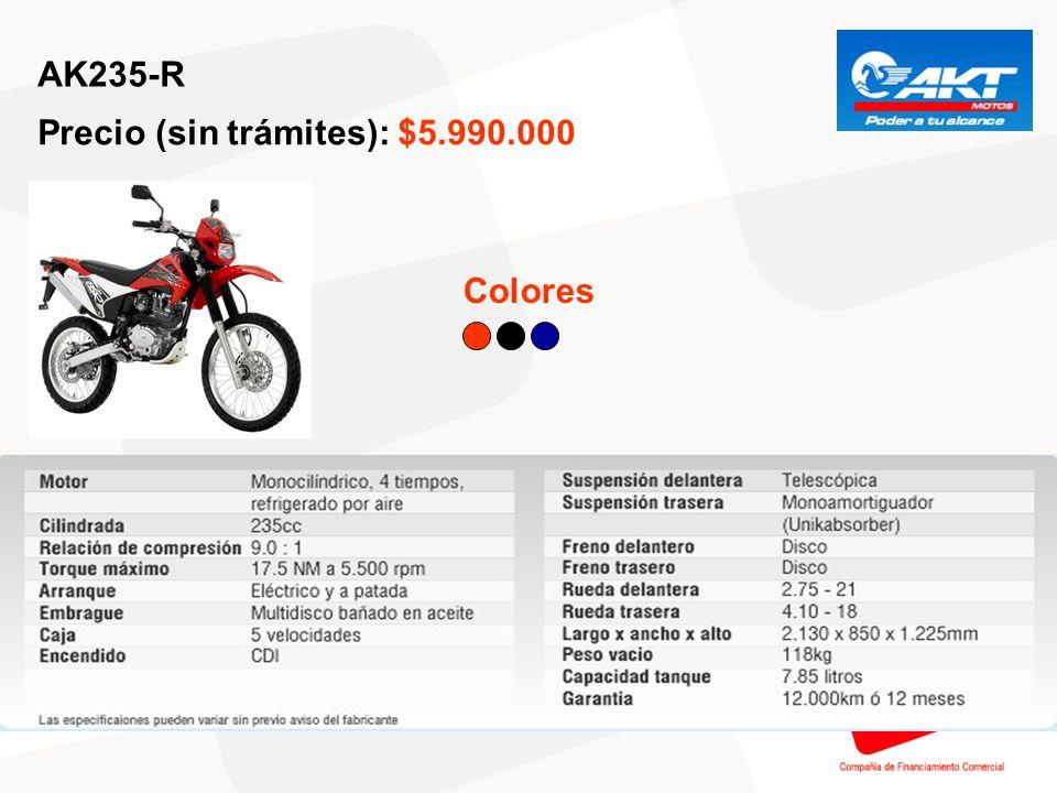 AK235-R Precio (sin trámites): $5.990.000 Colores