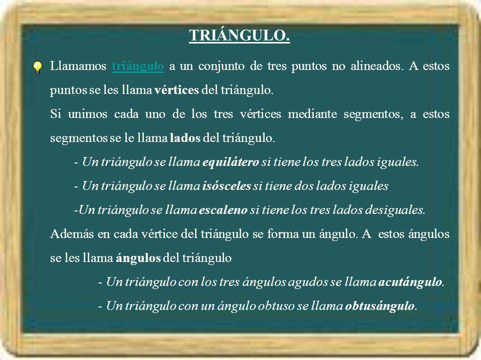 ELEMENTOS.El triángulo que aparece en el dibujo es un triángulo acutángulo.