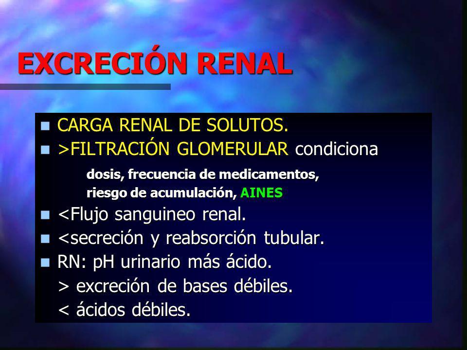 EXCRECIÓN RENAL CARGA RENAL DE SOLUTOS.CARGA RENAL DE SOLUTOS.