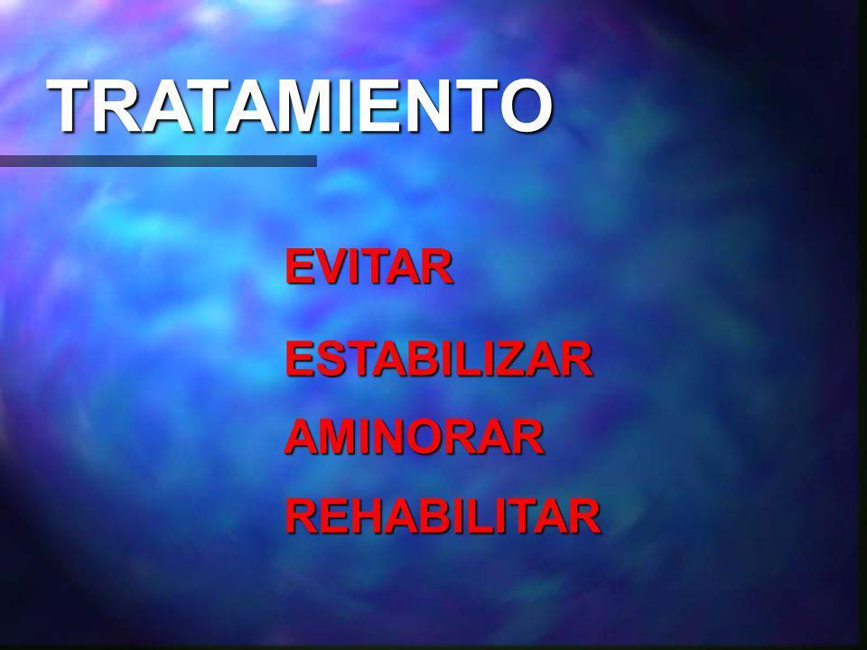 TRATAMIENTO EVITAR AMINORAR ESTABILIZAR REHABILITAR