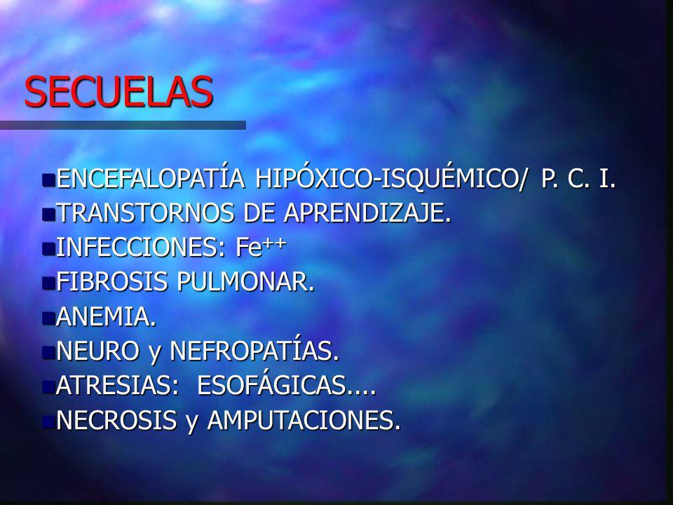 SECUELAS ENCEFALOPATÍA HIPÓXICO-ISQUÉMICO/ P.C. I.
