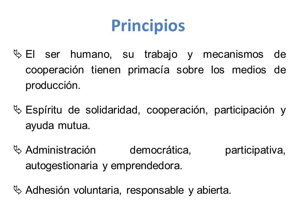 El ser humano, su trabajo y mecanismos de cooperación tienen primacía sobre los medios de producción.