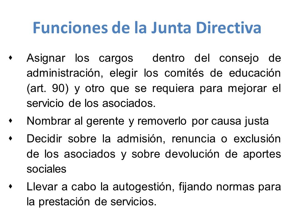 sAsignar los cargos dentro del consejo de administración, elegir los comités de educación (art.