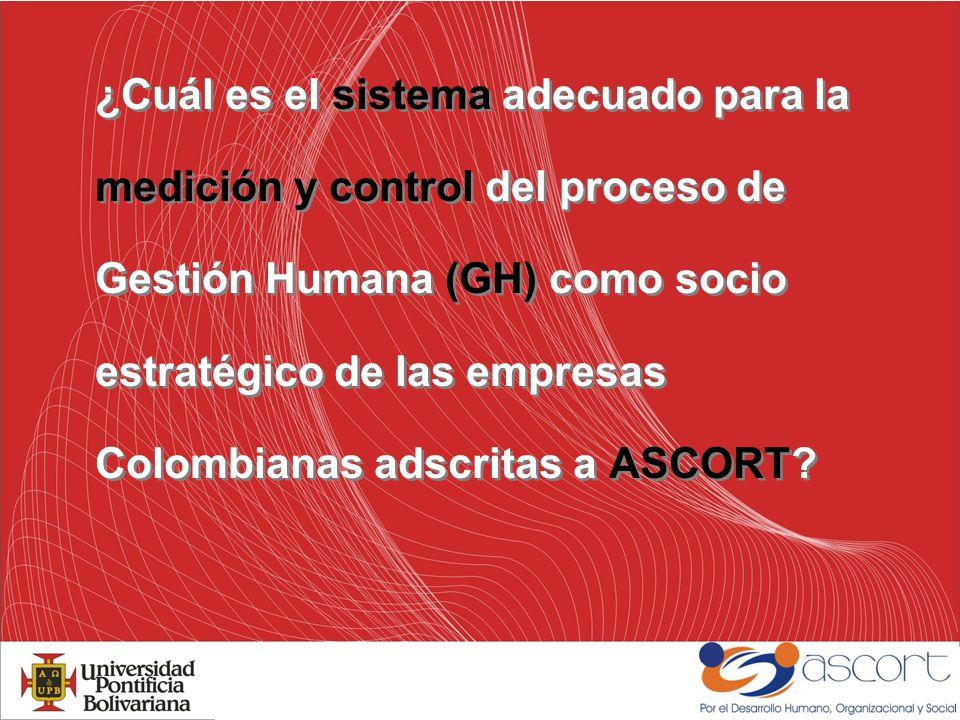 Fase I: Diagnosticar y evaluar la existencia y las características de los sistemas de medición de GH vigentes en algunas organizaciones de ASCORT.