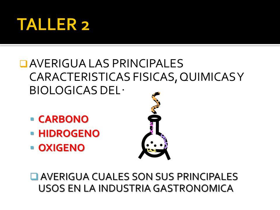 AVERIGUA LAS PRINCIPALES CARACTERISTICAS FISICAS, QUIMICAS Y BIOLOGICAS DEL: CARBONO CARBONO HIDROGENO HIDROGENO OXIGENO OXIGENO AVERIGUA CUALES SON S