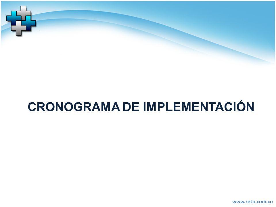 www.reto.com.co CRONOGRAMA DE IMPLEMENTACIÓN