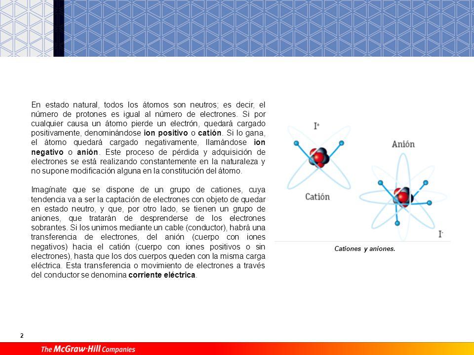 13 D Ley de Ohm E Energía y potencia eléctrica. Efecto Joule