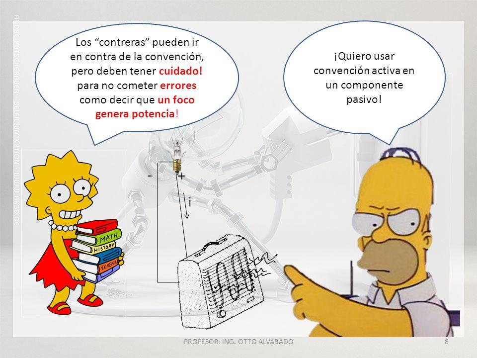 PROFESOR: ING.OTTO ALVARADO8 +- i ¡Quiero usar convención activa en un componente pasivo.