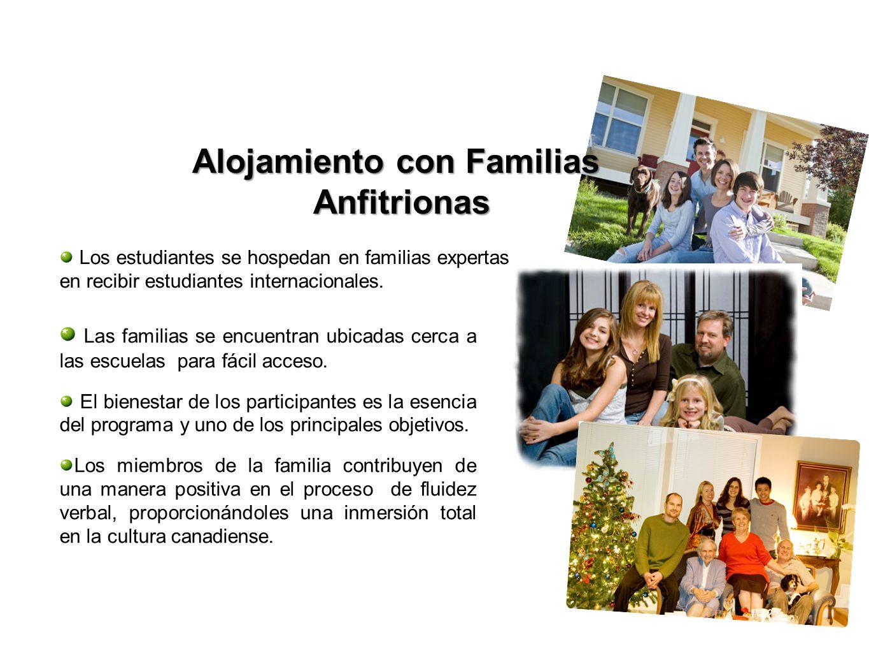 Los estudiantes se hospedan en familias expertas en recibir estudiantes internacionales. Las familias se encuentran ubicadas cerca a las escuelas para