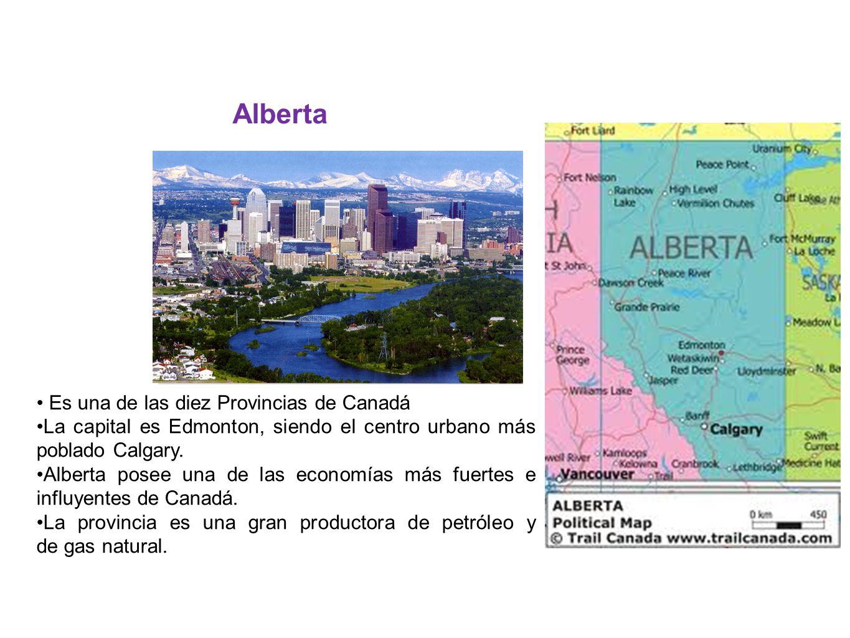 Es una de las diez Provincias de Canadá La capital es Edmonton, siendo el centro urbano más poblado Calgary. Alberta posee una de las economías más fu