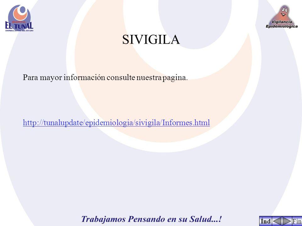 SIVIGILA FinÍnd Para mayor información consulte nuestra pagina. http://tunalupdate/epidemiologia/sivigila/Informes.html