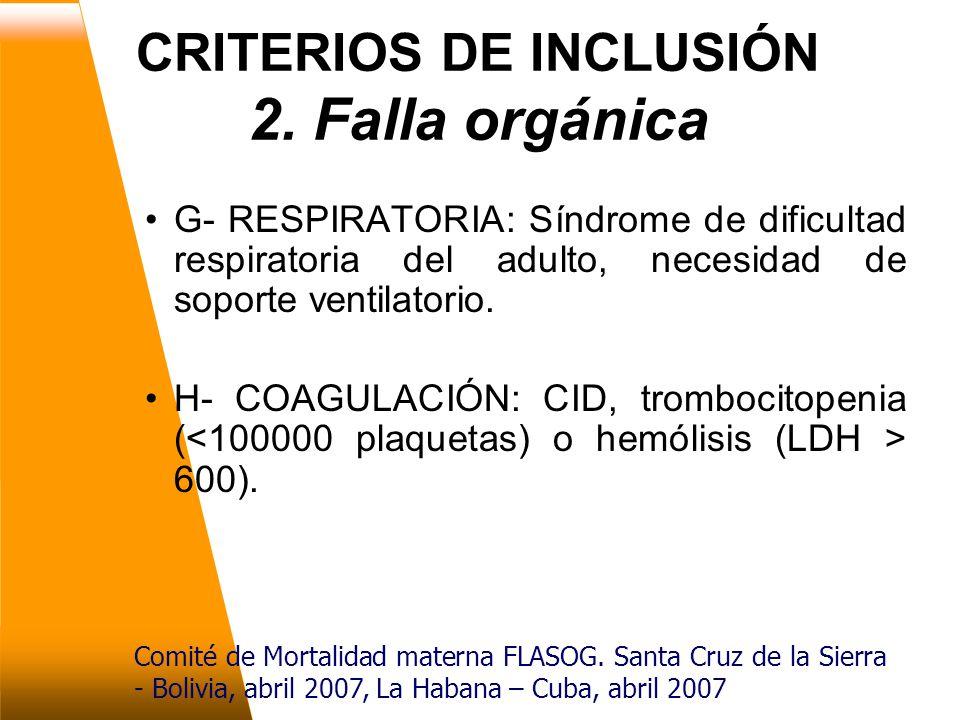 CRITERIOS DE INCLUSIÓN 2.