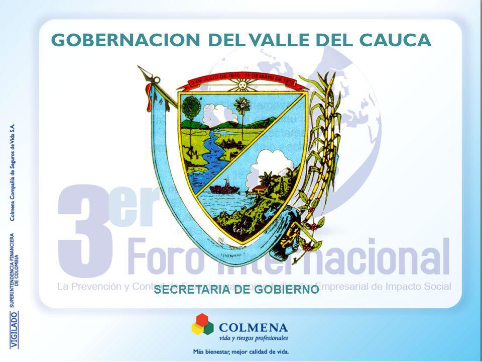 GOBERNACION DEL VALLE DEL CAUCA SECRETARIA DE GOBIERNO