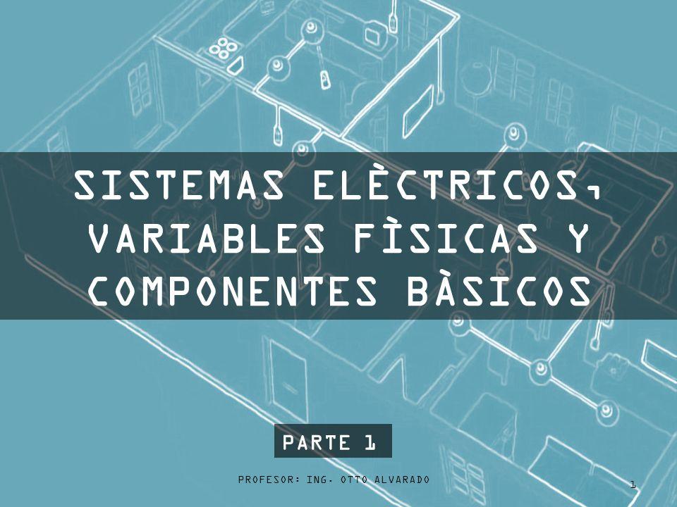 PROFESOR: ING. OTTO ALVARADO 1 SISTEMAS ELÈCTRICOS, VARIABLES FÌSICAS Y COMPONENTES BÀSICOS PARTE 1