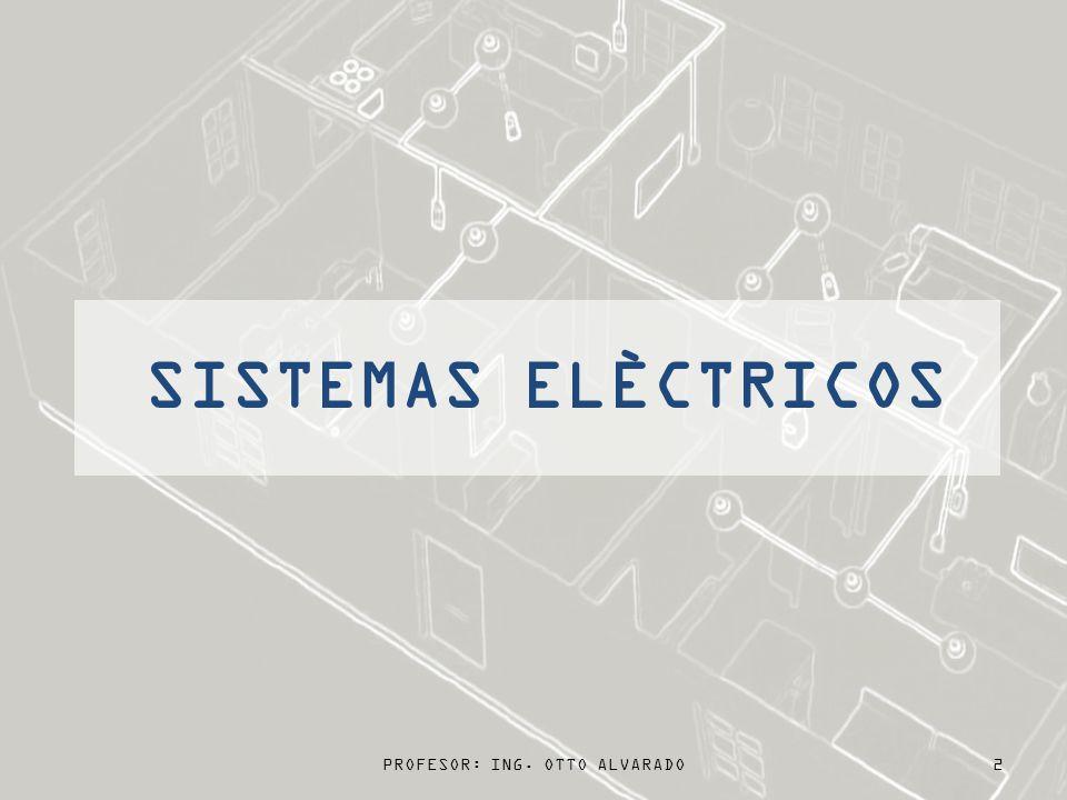 PROFESOR: ING. OTTO ALVARADO2 SISTEMAS ELÈCTRICOS