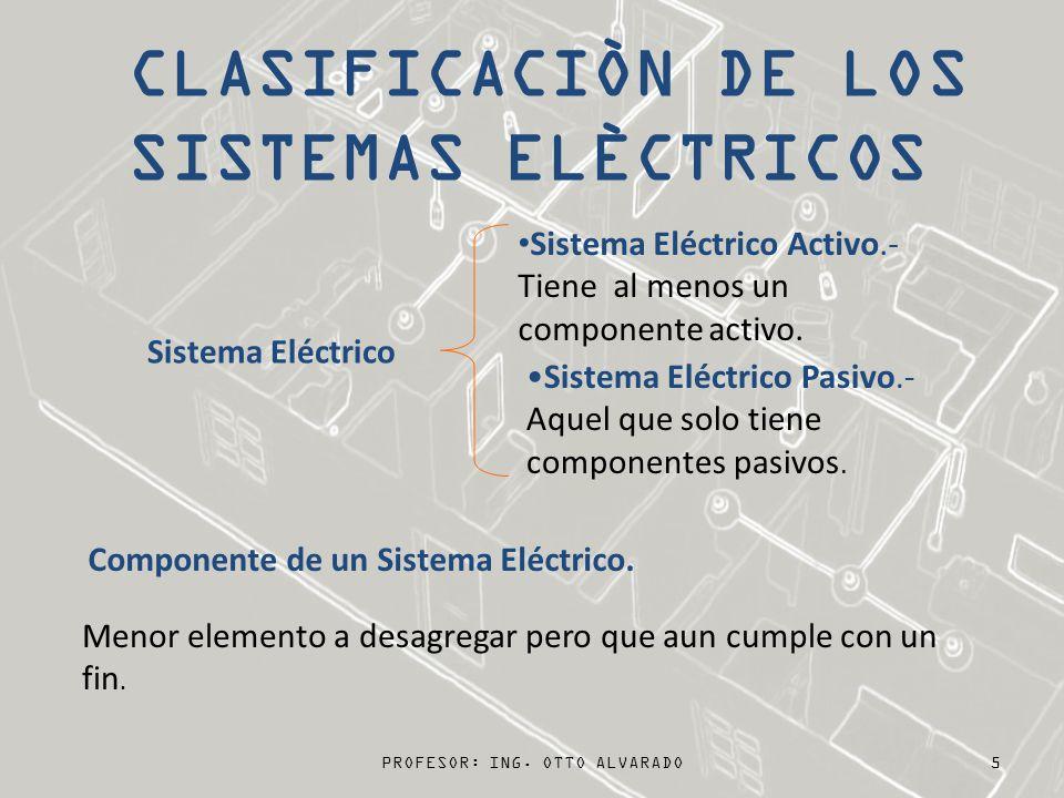 5 Sistema Eléctrico Sistema Eléctrico Activo.- Tiene al menos un componente activo. Sistema Eléctrico Pasivo.- Aquel que solo tiene componentes pasivo
