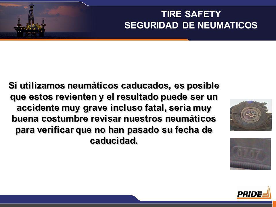 7 Si utilizamos neumáticos caducados, es posible que estos revienten y el resultado puede ser un accidente muy grave incluso fatal, seria muy buena costumbre revisar nuestros neumáticos para verificar que no han pasado su fecha de caducidad.