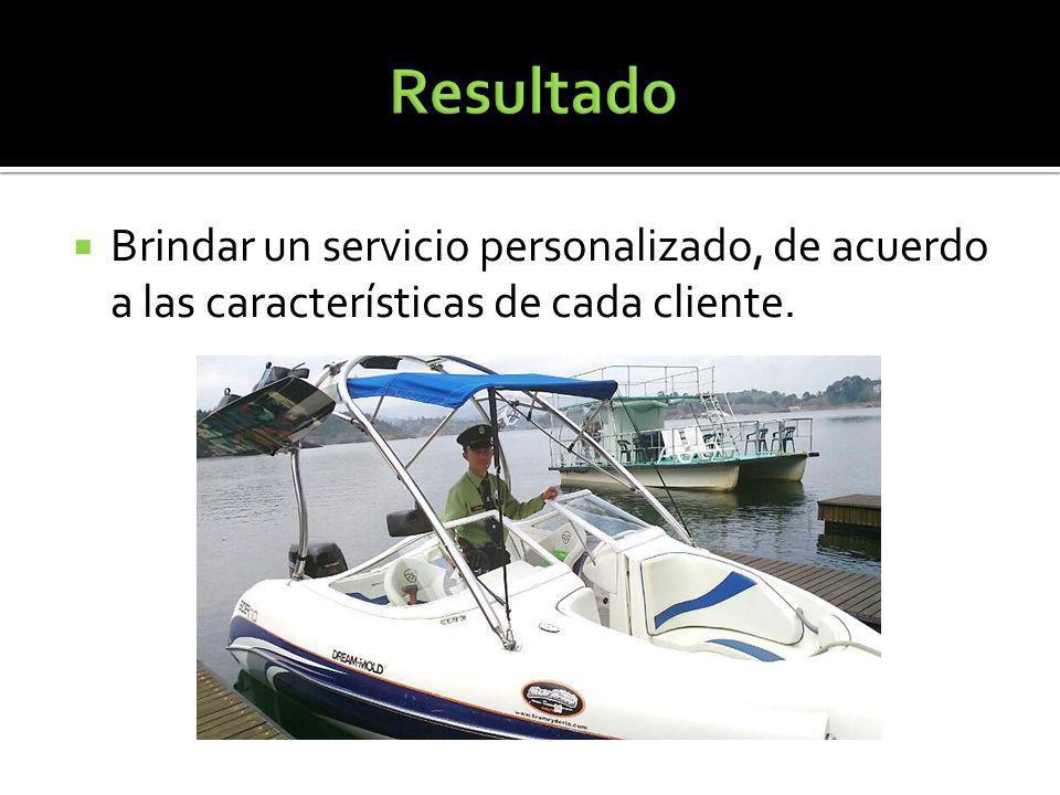 Brindar un servicio personalizado, de acuerdo a las características de cada cliente.
