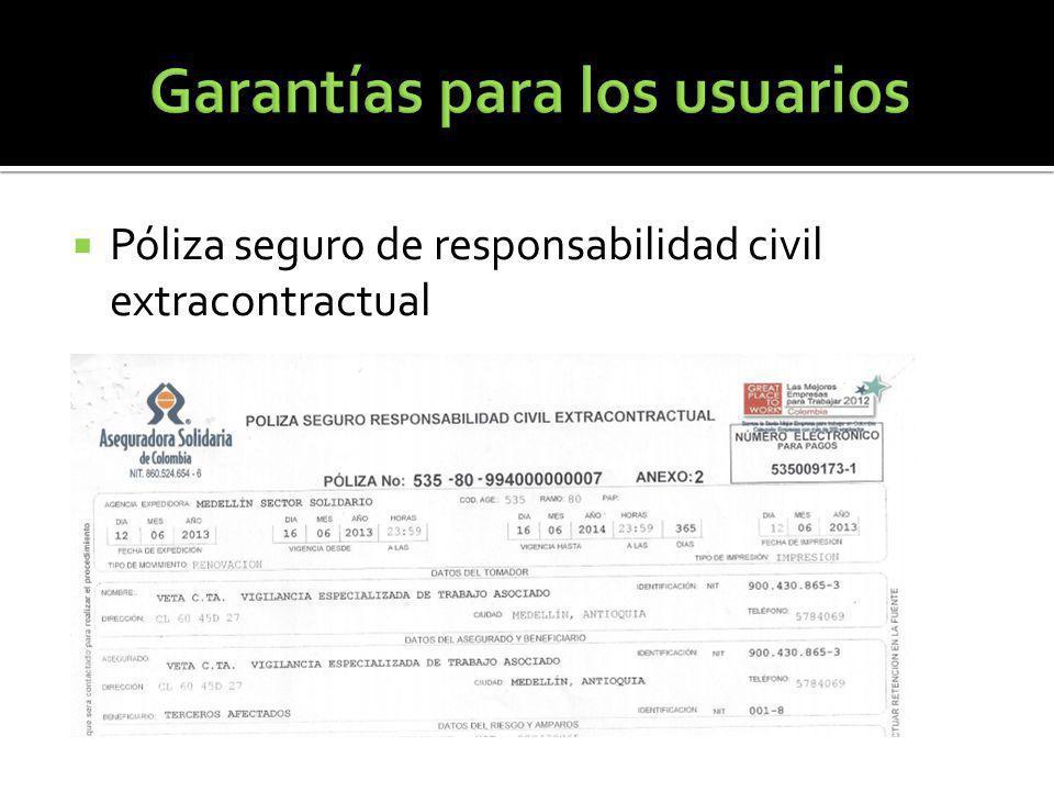 Póliza seguro de responsabilidad civil extracontractual