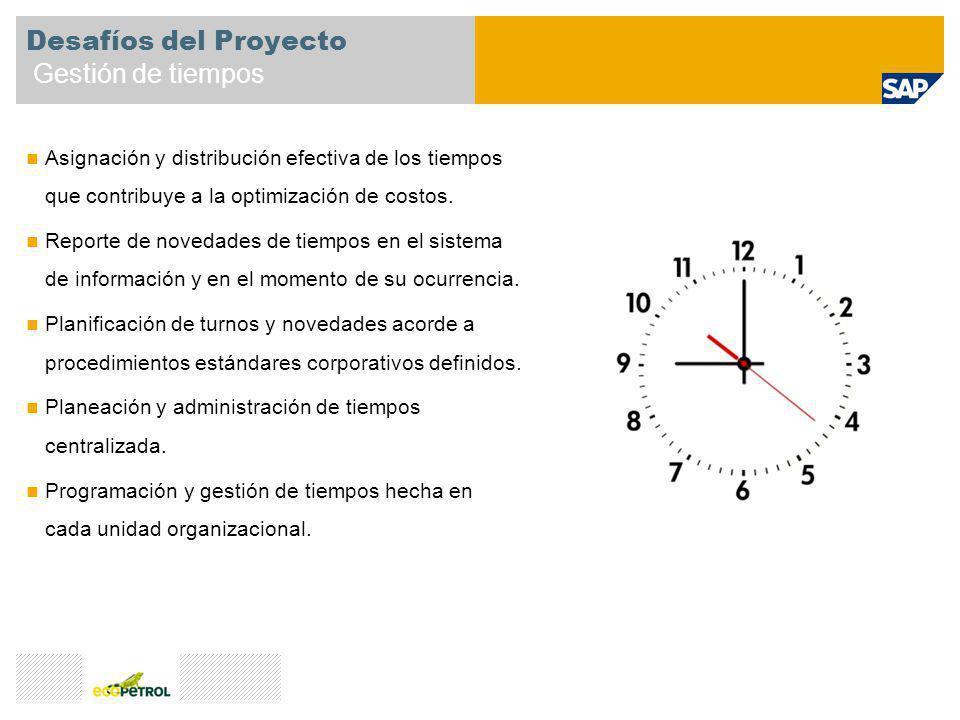 Desafíos del Proyecto Gestión de tiempos Asignación y distribución efectiva de los tiempos que contribuye a la optimización de costos. Reporte de nove
