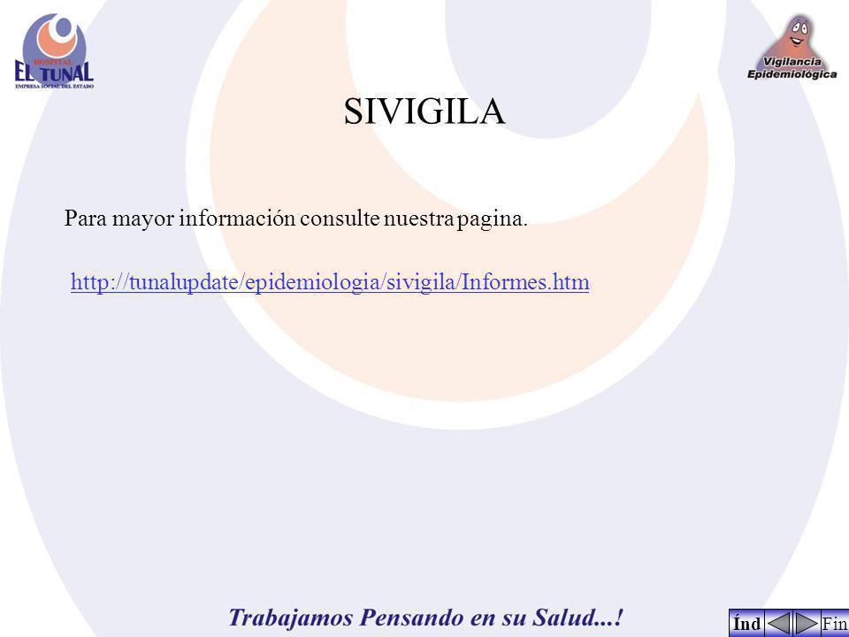 SIVIGILA FinÍnd Para mayor información consulte nuestra pagina. http://tunalupdate/epidemiologia/sivigila/Informes.htm