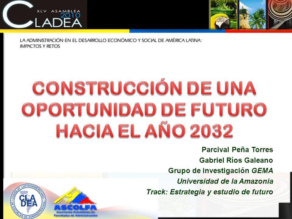 Parcival Peña Torres Gabriel Ríos Galeano Grupo de investigación GEMA Universidad de la Amazonia Track: Estrategia y estudio de futuro