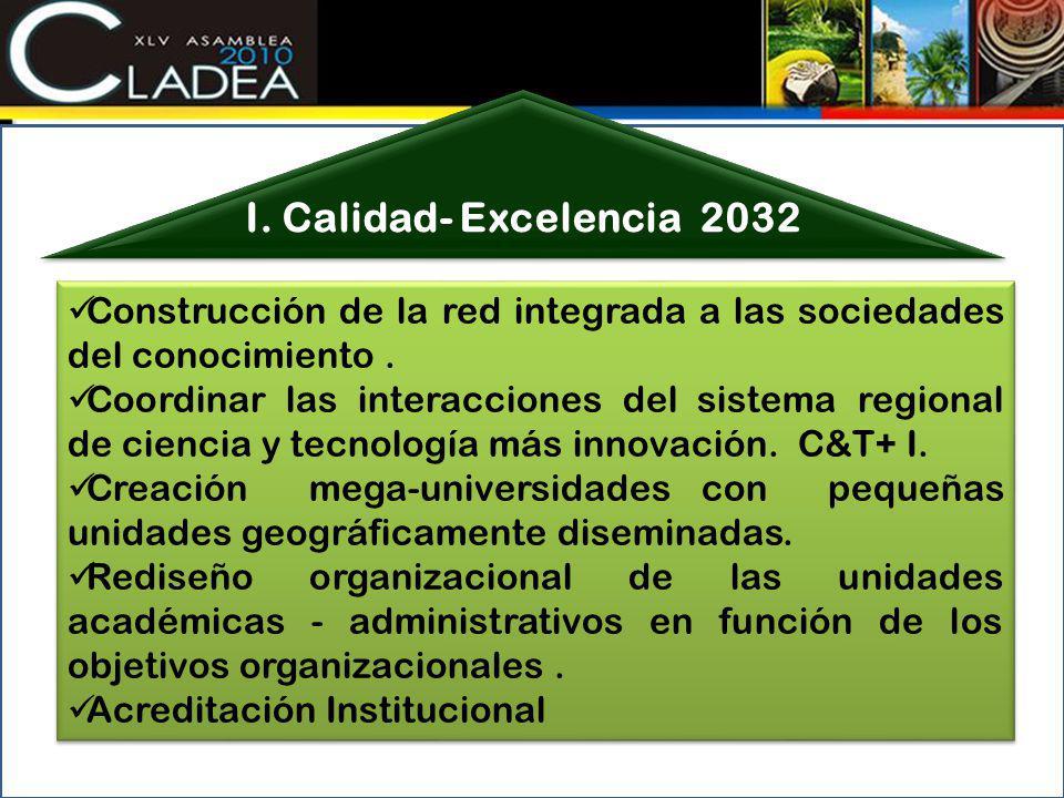 Construcción de la red integrada a las sociedades del conocimiento. Coordinar las interacciones del sistema regional de ciencia y tecnología más innov