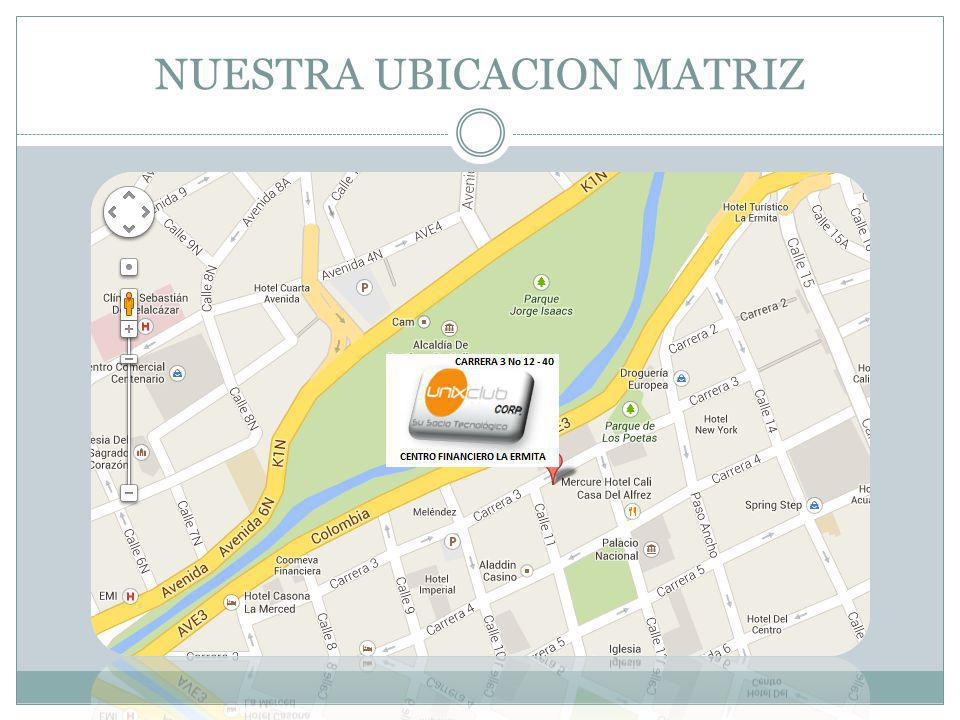 NUESTRA UBICACION MATRIZ