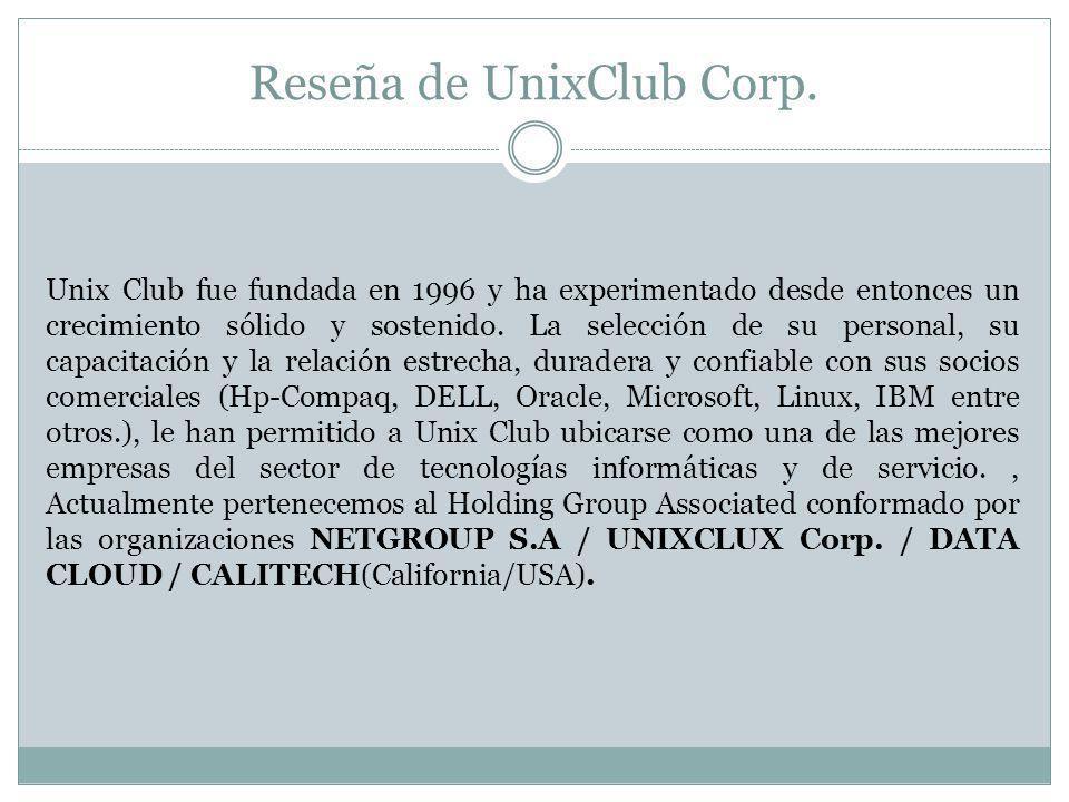 Reseña de UnixClub Corp.